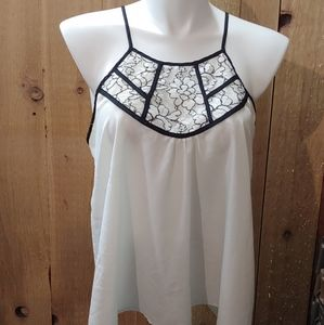 Beautiful white and black cami with lace XL